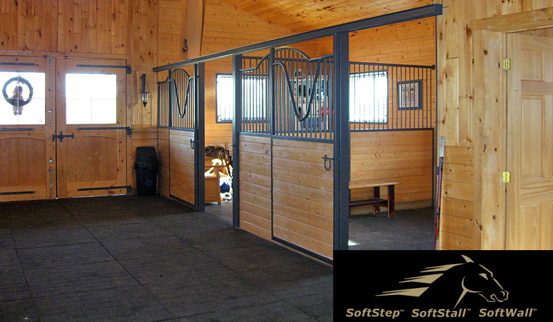 SoftStep SoftStall SoftWall products for barns, stables and stalls
